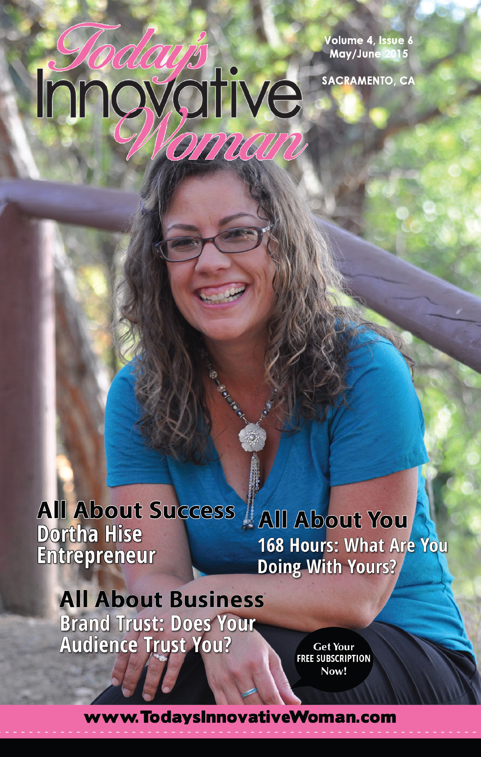 Todays Innovative Woman May June 2015 Dortha Hise Cover
